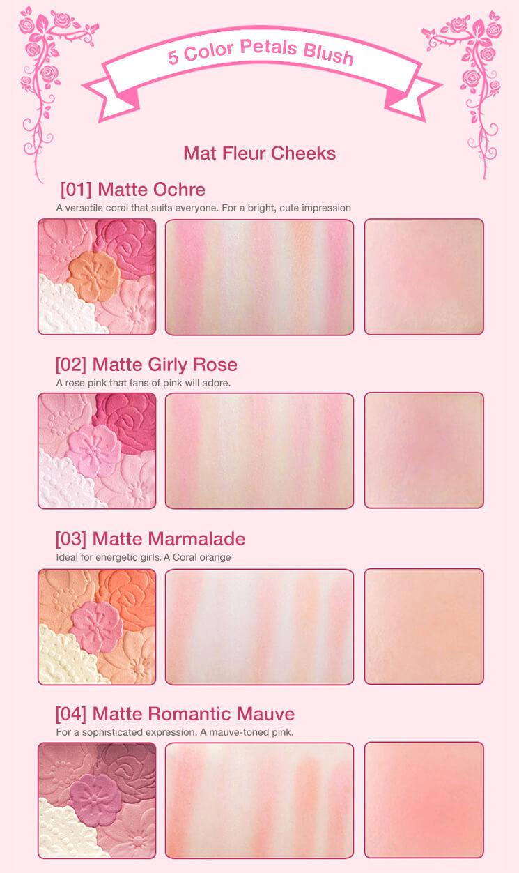 Canmake Mat Fleur Cheeks ENG04