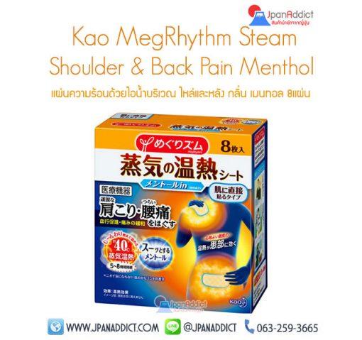 Kao MegRhythm Steam Shoulder & Back Pain Menthol