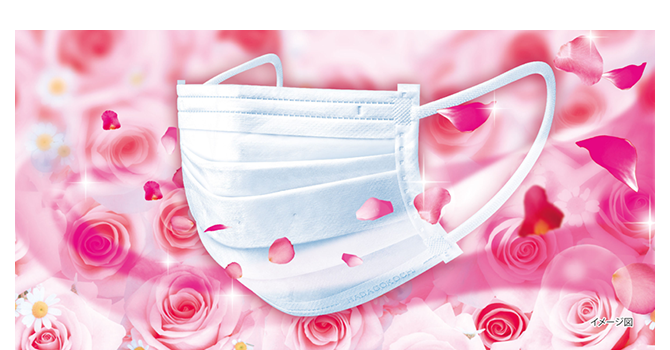 Kobayashi Nodonuru Anti-Dust Mask Fragrance Rose Scent หน้ากากอนามัย 3ชั้น ปกป้องฝุ่นละออง PM 2.5 กลิ่นกุหลาบ