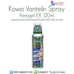 Kowa Vantelin Aerogel EX 120ml ช่วยบรรเทาอาการเจ็บปวดของกล้ามเนื้อ ลดการอักเสบ