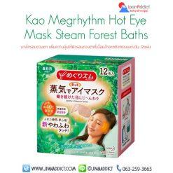 MegRhythm Hot Steam Eye Mask Forest Bath 12pcs