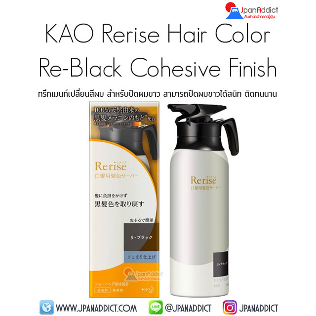 KAO Rerise Hair Color Server for Gray Hair Cohesive Finish 155g ทรีทเมนท์เปลี่ยนสีผม